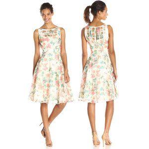 Julian Taylor Sleeveless Floral Full Skirt Dress